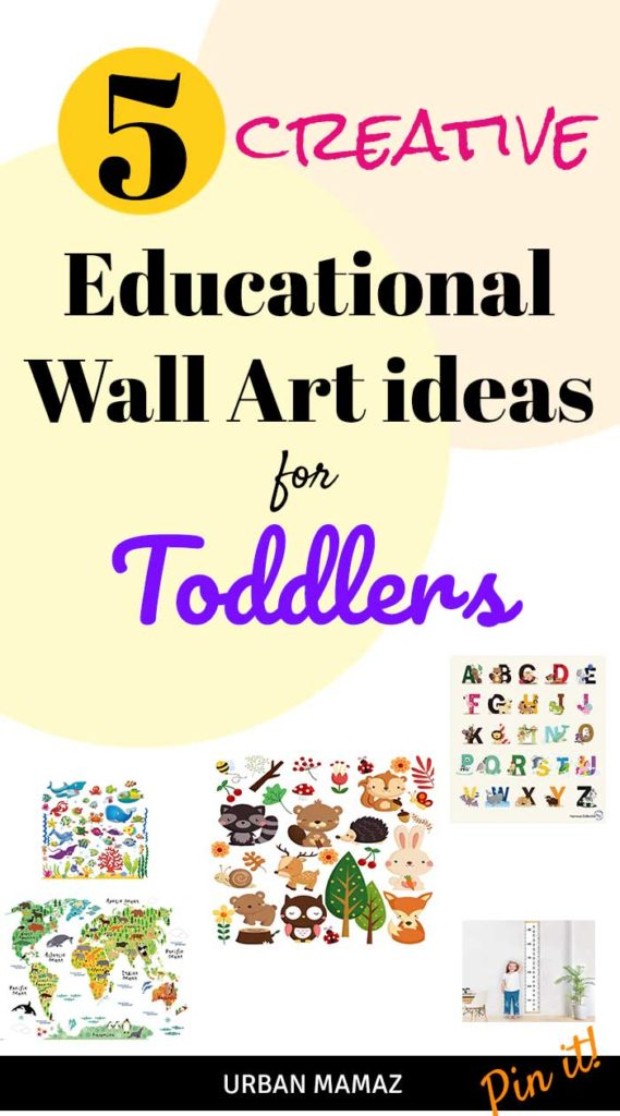 5 Creative Educational Wall Art Ideas for Toddlers - Urban Mamaz