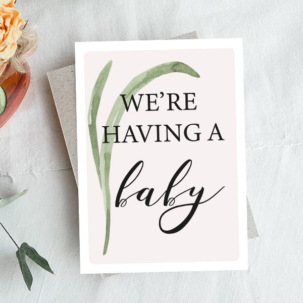 free pregnancy announcement card by urban mamaz